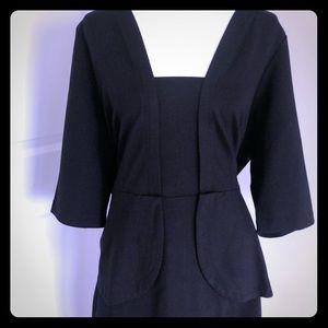 NWOT Black Eloquii Peplum Style Dress
